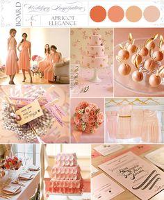 Apricot, Elegance, Soft Pink, Wedding Inspiration Boards