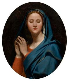 The Virgin of the Blue Veil - Jean Auguste Dominique Ingres