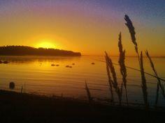 Sunrise behind Varsasaari