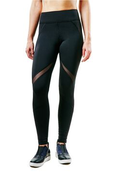 Mesh details are trending everywhere. Don't miss out on these Michi Deco Leggings. #black