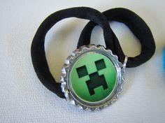 Minecraft Bottle Cap Bracelet