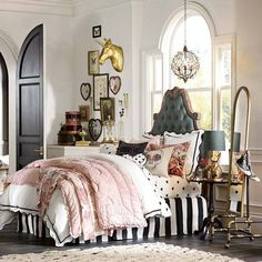 whimsical vintage style, DREAM ROOM! already ordered the bedding and frame! So excited!