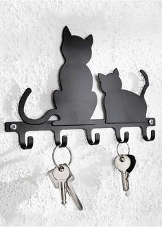 """Wieszak na klucze """"Koty"""" Dekoracyjny • 47.99 zł • bonprix"""