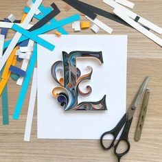 Quill sign - Personalized Letter - Fathers Day gift - Custom initial gift - Any letters Quilling Letters, Paper Quilling Cards, Paper Quilling Designs, Quilling Art, Pop Up Frame, Quiling Paper, Paper Quilling For Beginners, Paper Art Design, Paper Frames