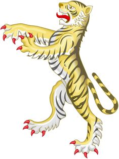 File:Tiger Supporter (Heraldry).svg