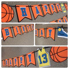 A personal favorite from my Etsy shop https://www.etsy.com/listing/274947546/basketball-banner-basketball-party-decor