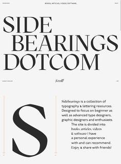 Sidebearings landing page design inspiration - Lapa Ninja