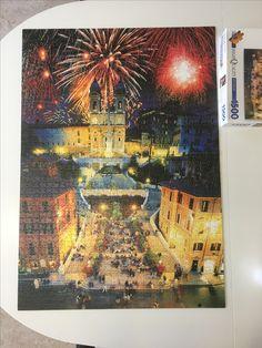 Nytårsdag på den spanske trappe. New Year's Day in Spanish-Steps #puzzle #1500pieces