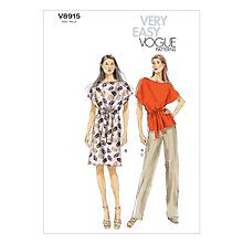 Buy Vogue Women's Top, Trouser And Dress Sewing Pattern, 8915 Online at johnlewis.com