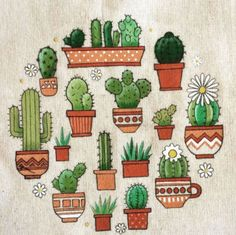 ✔ Cute doodle-simple cactus - Lisa E. Cactus Drawing, Cactus Painting, Cactus Art, Cactus Doodle, Cactus Decor, Simple Doodles, Cute Doodles, Cactus House Plants, Indoor Cactus