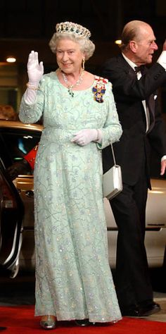 2002. Prince Phillip Ill TORONTO, ON - OCTOBER 10: The Queen and Prince Phillip tonight are seen arriving for a short function at the CBC headquarters on front street. The short visit was just prior to the gala performance at Roy Thomson Hall. The two are seen waving to crowds on both sides as they enter the building. (Richard Lautens/Toronto Star via Getty Images) Hm The Queen, Her Majesty The Queen, Queen B, Queen And Prince Phillip, Prince Philip, Royal Clothing, Toronto Star, Queen Pictures, Royal Tiaras
