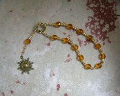 Helios Mini Prayer Beads: Greek God of the Sun, All-Seeing Observer, Witness of Oaths by HearthfireHandworks on Etsy
