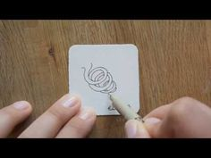 Zentangle® Muster: Organic - YouTube