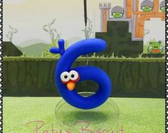 Vela decorada Blue Bird - Angry Birds