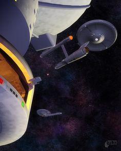 Another Day at the Office #startrek #starfleet #enterprise #scifi #sciencefiction #spaceship #spacecraft