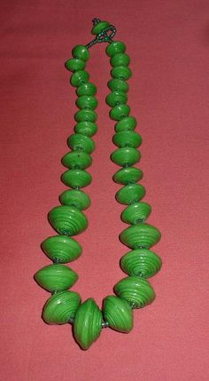 Unique handcrafted paper bead necklace from Uganda