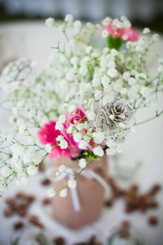 simple wedding flowers #weddings