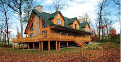 See How an Elegant Wrap-Around Deck Can Significantly Add to the Appearance of a Log Home