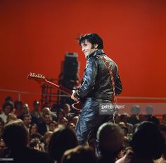 <a gi-track='captionPersonalityLinkClicked' href=/galleries/search?phrase=Elvis+Presley&family=editorial&specificpeople=67209 ng-click='$event.stopPropagation()'>Elvis Presley</a> during his '68 Comeback Special on NBC --