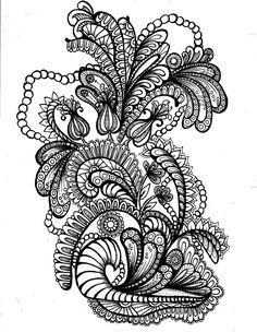 Flourish ║ Zen Doodle ║ Tiffany Lovering