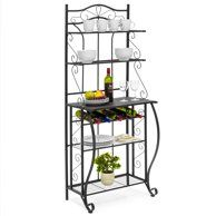 Home Metal Kitchen Kitchen Storage Shelves Wine Rack Sideboard