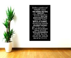 Welcome Wall Decals International Languages World Map Wall Decal - Office depot window decals instructions