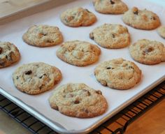 Almond Flour Chocolate Chip Cookies {Grain-Free} | Meaningful Eats )(These were so good! Everyone loved them. I used all butter because I was out of coconut oil and unsweetened coconut instead of walnuts)