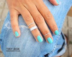 Silver Knuckle Ring Set of 3 Above the Knuckle Rings, Stacking  Midi Ring, Rings,  Mid Knuckle Ring on Etsy, £8.58