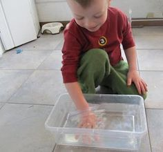 A science activity to demonstrate how webbed feet help a frog to swim.