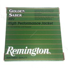 Remington Golden Saber 147GR 9mm Ammunition features a hollow point cavity design that maximizes penetration by minimizing lead core deformation.