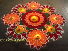 Colour ful rangoli.....                                                                                                                                                                                 More