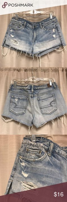 American Eagle Outfitters Denim Cut-Offs Shorts Sexy, effortless stylish distressed denim cut-offs! American Eagle Outfitters jean shorts with frayed edges and side vents. Perfectly on-trend for summer! American Eagle Outfitters Shorts Jean Shorts