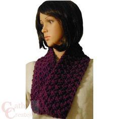 Hand #Knit Wine #Scarf @CathyCreates