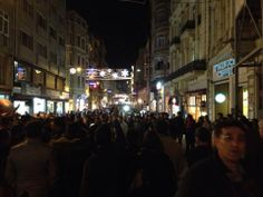 Taxim Square Istanbul!! Crowded & awesome