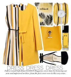 """""""IN LA LA LAND: YELLOW DRESSES #2"""" by noraaaaaaaaa ❤ liked on Polyvore featuring Nine West, Hermès, Studio Oh!, Chico's, WithChic, Chanel, Jose & Maria Barrera, DKNY and yellowdress"""