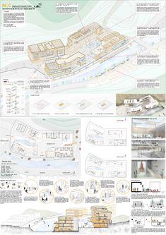 Concept Board Architecture, Architecture Presentation Board, Architecture Panel, Architecture Graphics, Architecture Visualization, Architecture Design, Architectural Presentation, D Lab, Presentation Board Design