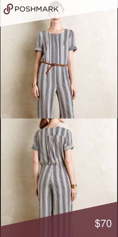 Anthropologie Harlyn stripped jumpsuit Size small NWT.  I was in search for a size medium and decided to try a small but didn't work. I usually wear an 8/10.  Offers encouraged Anthropologie Pants Jumpsuits & Rompers