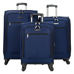 Travelers Choice 3 Piece Lightweight Expandable Spinner Luggage Set * Want to know more, click on the image.