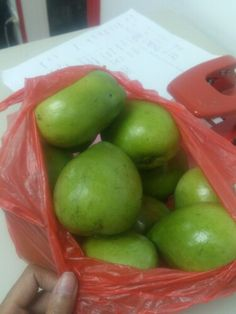Some ripe native mangoes from our officemate ready for merienda later Apple, Fruit, Food, Essen, Yemek, Apples, Meals