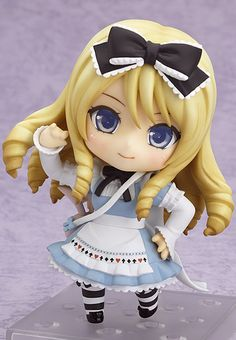 Nendoroid - Momoiro Taisen Pairon: Alice (w/First Press Bonus: Serial Code) Polymer Clay Figures, Polymer Clay Dolls, Polymer Clay Crafts, Chibi, Toy Art, Crea Fimo, Anime Figurines, Cute Clay, Cold Porcelain