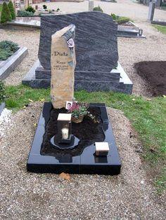 Dietz-Rosa-1 Grave Decorations, Memorial Stones, Funeral, Granite, Black, Pink, Pai, Grief, Ideas