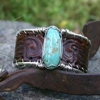 Rendezvous West Mexican Hat Fox Turquoise Cuff Bracelet