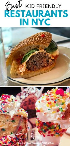 Best Kid Friendly Restaurants in NYC. We've got a list of some of the coolest kid friendly restaurants, fun and tasty with variety and sometimes with a view! Check out this list to start your meal planning today! Nyc With Kids, Travel With Kids, Family Travel, Kid Friendly Restaurants, Nyc Restaurants, Family Destinations, European Vacation, Instagram Worthy, Salmon Burgers