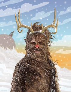 PJ McQuade I Ilustración Star Wars I Frikrismas  #OtrasDemencias #Frikrismas
