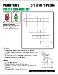 Image Result For Crossword Puzzle With Answers Animals And Plants And Earth Free Printable Crossword Puzzles Puzzles For Kids Printable Crossword Puzzles