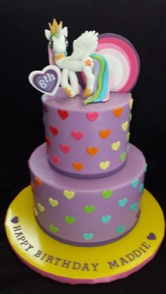 Princess Celestia, my little pony birthday cake