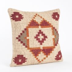 Kilim Design Down Filled 20-inch Throw Pillow / $44.99 at Overstock.com