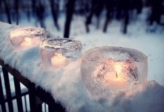 frozen candle holders