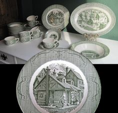 the old curiosity shop dishes | Wedding China Dinnerware Set, The Old Curiosity Shop, Green Currier ...