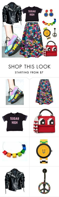 """Untitled #565"" by indigoaesthetics ❤ liked on Polyvore featuring Y.R.U., Mira Mikati, Wildfox, Les Petits Joueurs, Lego and Leka"